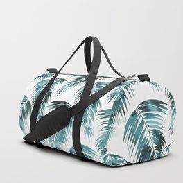 Maui Palm Leaf 2 green Duffle Bag