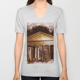 The Roman Pantheon Unisex V-Neck