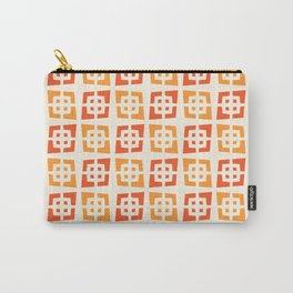 Mid Century Modern Pattern 273 Orange and Red Carry-All Pouch
