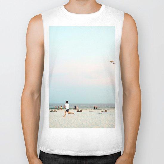 Running Beach Biker Tank