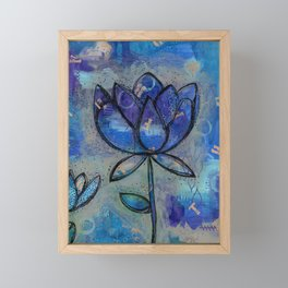 Abstract - Lotus flower - Intuitive Framed Mini Art Print