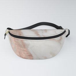Marble Rose Gold Shimmery Marble Fanny Pack