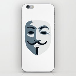 Anonymous Mask #society6 #decor #buyart #artprint iPhone Skin