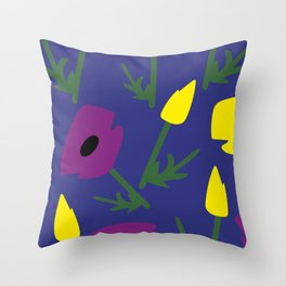 Flowery2 Throw Pillow