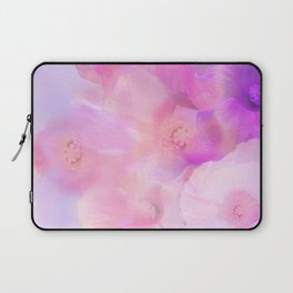 Luminous Pink Flowers Laptop Sleeve