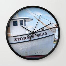 Stormy Seas - Fishing Vessel Wall Clock