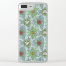 English Garden Pattern Clear iPhone Case