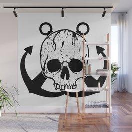 Anchored Jolly Roger Wall Mural