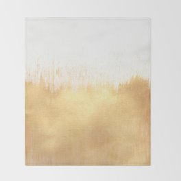 Brushed Gold Throw Blanket