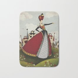 Off with their heads Queen of hearts from Alice in Wonderland Bath Mat