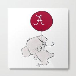 Alabama Cute Elephant Kids Gifts Crimson Tide Metal Print