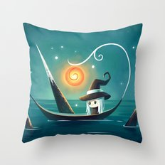Little Witch 3 Throw Pillow