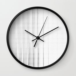 Rhythm of black dots on white background Wall Clock