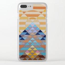 large sun mountain orange Clear iPhone Case