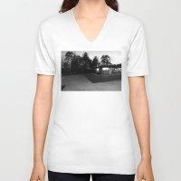north carolina V-neck T-shirts featuring North Carolina by Mary Francis