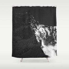 FLEE GLACIER III / Switzerland Shower Curtain