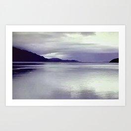 River View in Purple Art Print