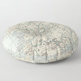Vintage Map of Ireland (1893) Floor Pillow