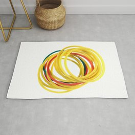 Several Stationery Rubbers Rug
