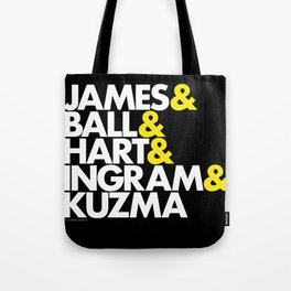 Lakers Lineup: LeBron & Young Core Tote Bag
