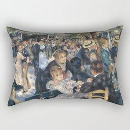 """Pierre Auguste Renoir """"Dance at Moulin de la Galette"""" Rectangular Pillow"""