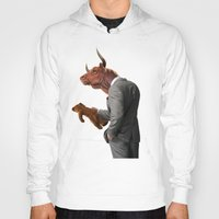 bull Hoodies featuring Bull by rob art | illustration