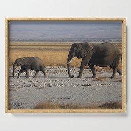 Kenia Elephants Serving Tray