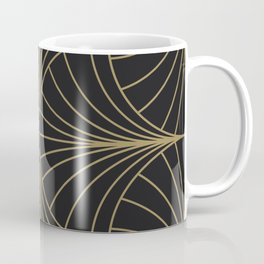 Diamond Series Inter Wave Gold on Charcoal Coffee Mug
