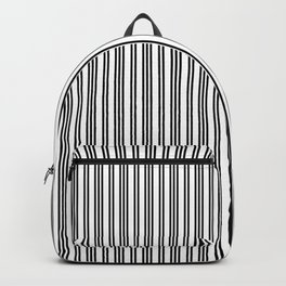 Small Black and White Piano Stripes Backpack