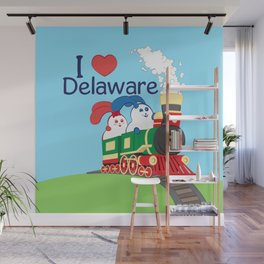 Ernest and Coraline | I love Delaware Wall Mural
