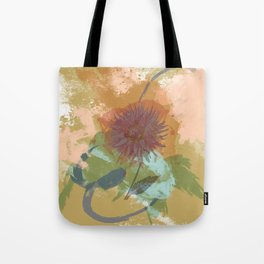 Autumnal Brushstrokes, Abstract Floral Art Tote Bag