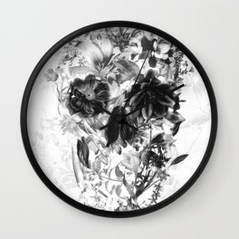 New Skull Light B&W Wall Clock