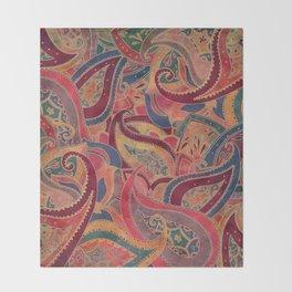 Paisley pattern Throw Blanket