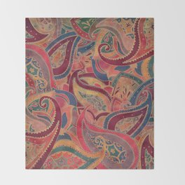 Paisley pattern Throw Blanket