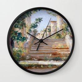 Peder Severin Krøyer Loggia in Ravello Wall Clock