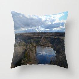Skinner's Bluff Throw Pillow