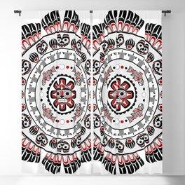 Pacific Northwest Native American Art Mandala Blackout Curtain