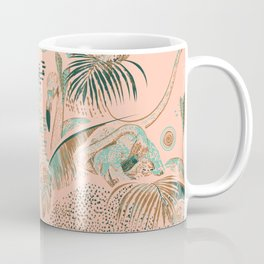 Flamingos in linocut look Coffee Mug