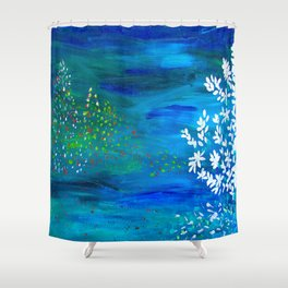 Noite feliz Shower Curtain