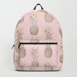 Golden and blush pineapples pattern Backpack