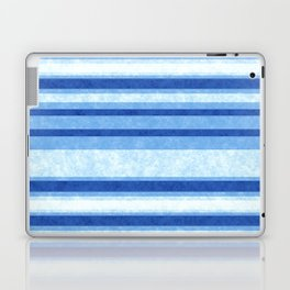 Sky Blue Grunge Stripes Laptop & iPad Skin