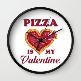 Valentine's Day gift pizza Wall Clock