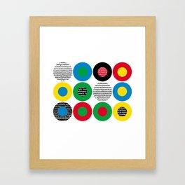 Olympic celebration Framed Art Print