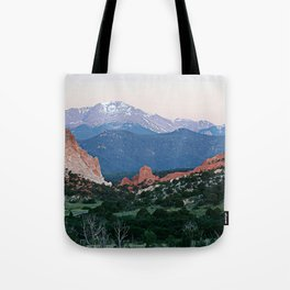 Sunrise at Garden of the Gods and Pikes Peak Tote Bag