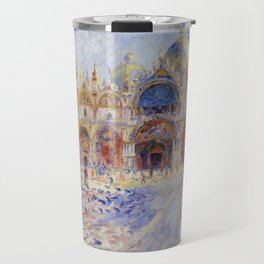 Auguste Renoir - The Piazza San Marco in Venice Travel Mug