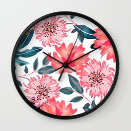 Yours Florally Wall Clock