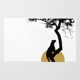 Art print: The leopard on the tree art Rug