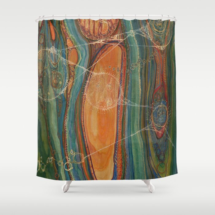 Lively Synapses (Amplified Current) Shower Curtain