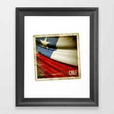 Chile grunge sticker flag Framed Art Print