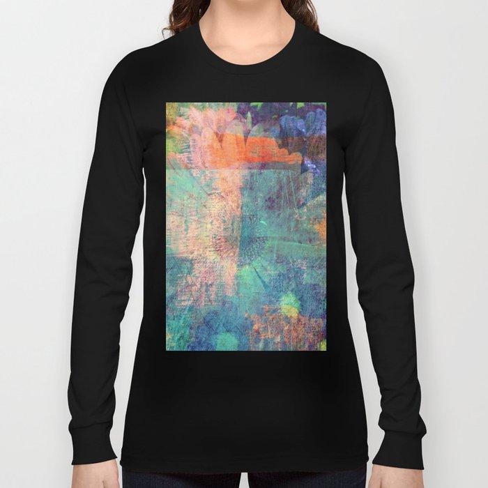 Grunge Flower Long Sleeve T-shirt